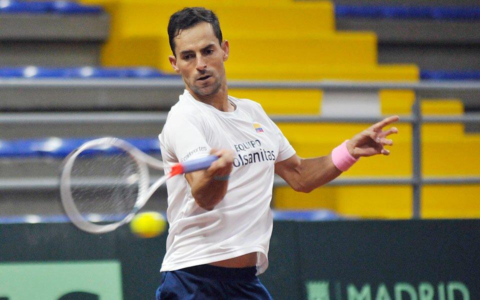 Santiago Giraldo, tenista risaraldense que hace parte del equipo colombiano.