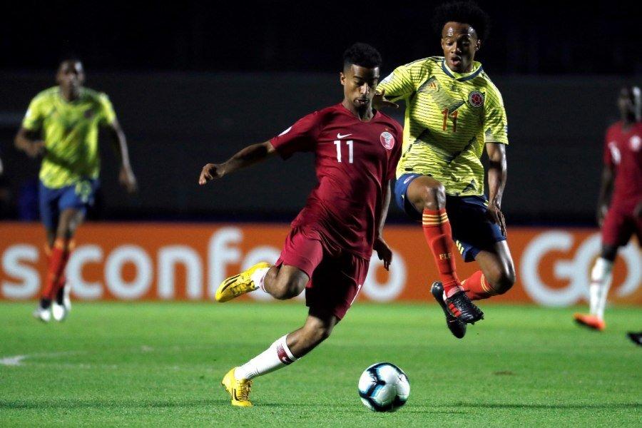 Colombia domina en el primer tiempo y Catar, resguardado, salva el empate