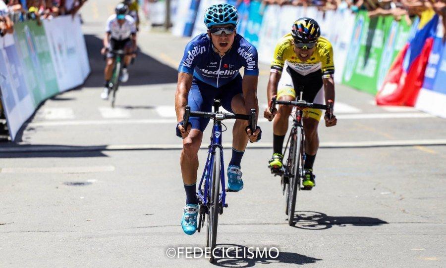 El risaraldense Johnatan Cañaveral fue segundo en la etapa 2 de la Vuelta a Colombia