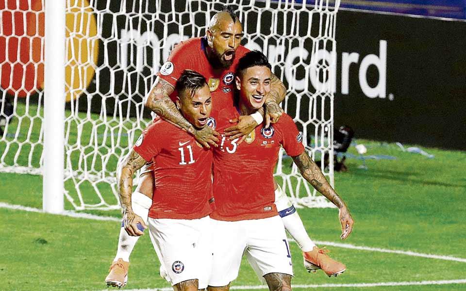 Goleada chilena para ratificar su favoritismo en la Copa